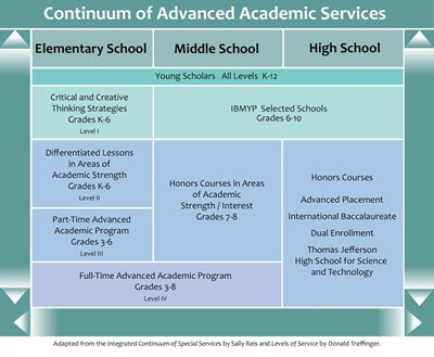Continuum of Advanced Academic Services