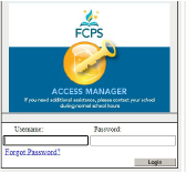 FCPS log in screen